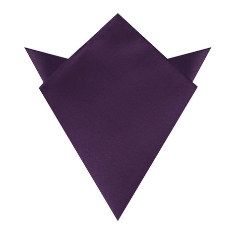 Eggplant Purple Satin Pocket Square