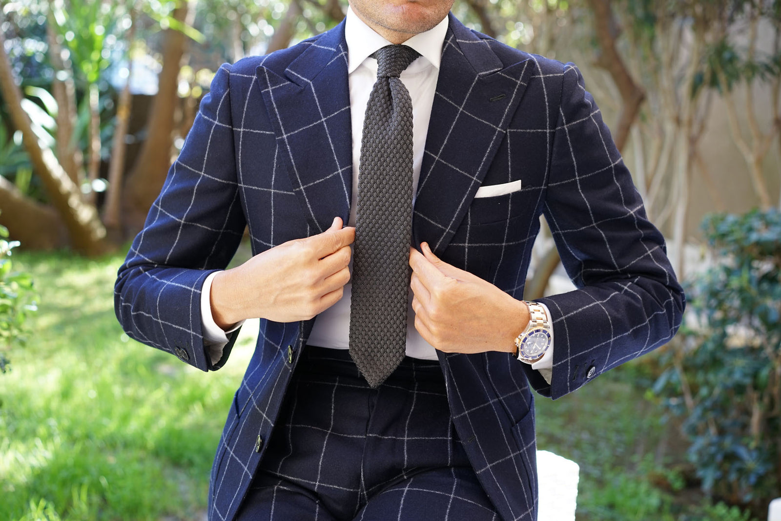 Elysian Grey Knitted Tie