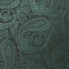 Emerald Green Paisley Kids Bow Tie