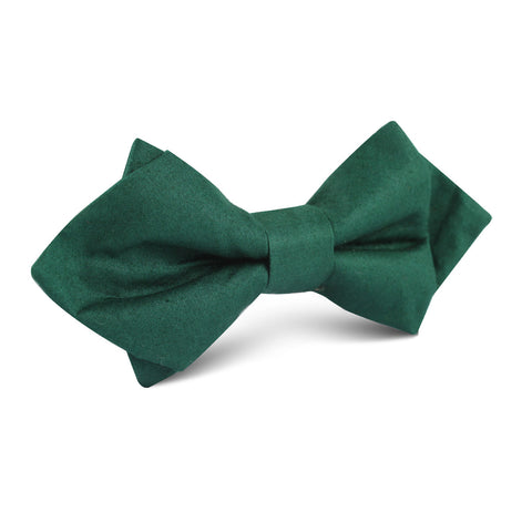 Emerald Green Cotton Diamond Bow Tie