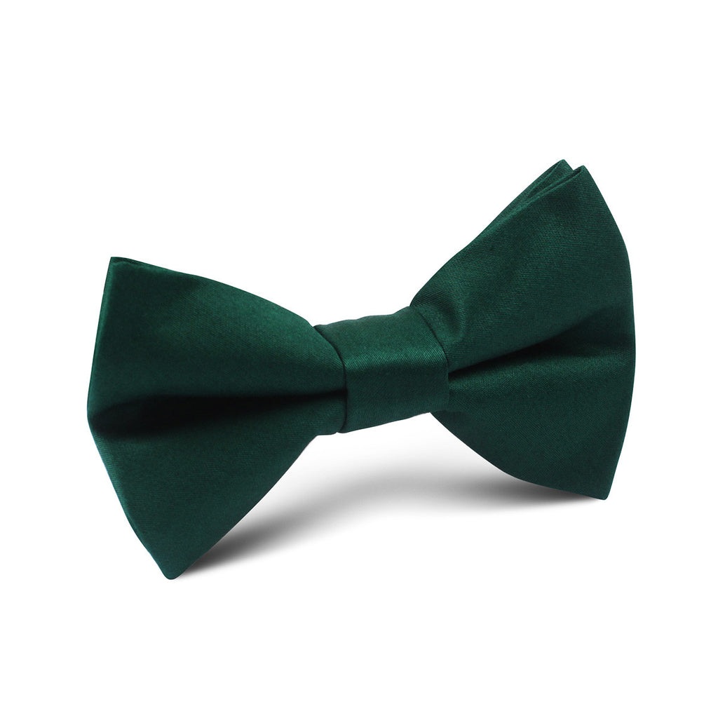 Emerald Green Cotton Kids Bow Tie