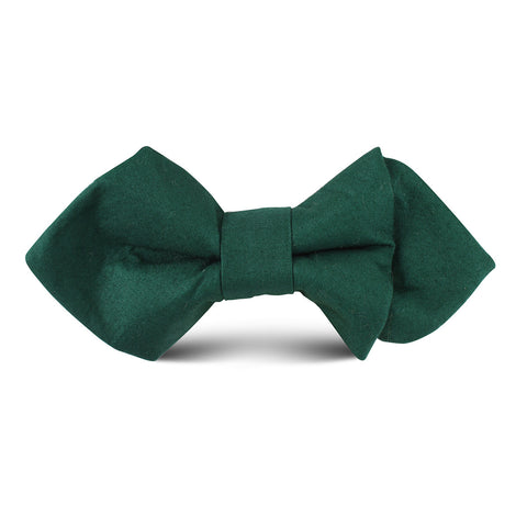 Emerald Green Cotton Kids Diamond Bow Tie