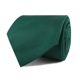 Emerald Green Cotton Necktie