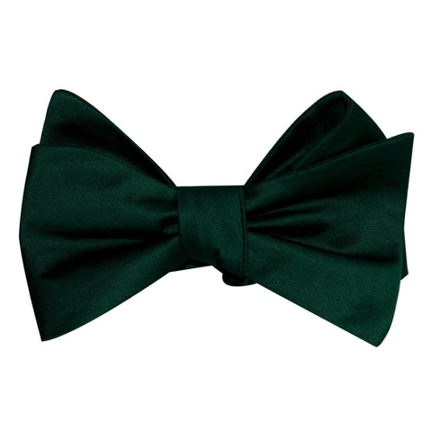 Emerald Green Cotton Self Tie Bow Tie