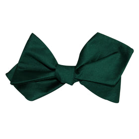 Emerald Green Cotton Self Tie Diamond Tip Bow Tie