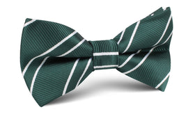 Emerald Green Double Stripe Bow Tie