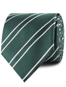 Emerald Green Double Stripe Necktie