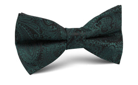 Emerald Green Paisley Bow Tie