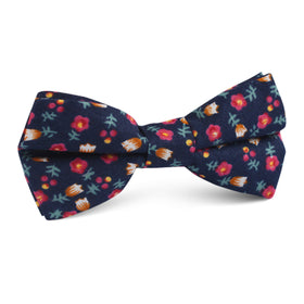 English Dahlias Floral Kids Bow Tie