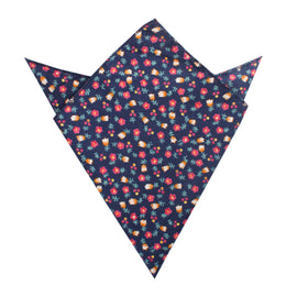 English Dahlias Floral Pocket Square