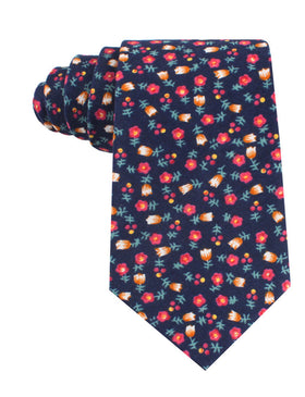 English Dahlias Floral Tie