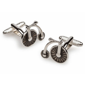 English High Wheel Bicycle Cufflinks