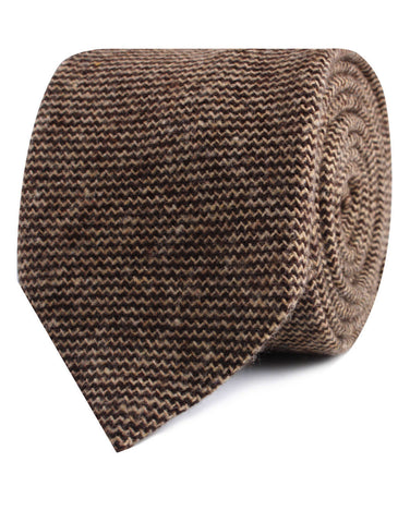Espresso Brown Zigzag Wool Tie