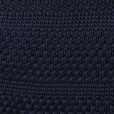 Essaouira Navy Knitted Tie Fabric