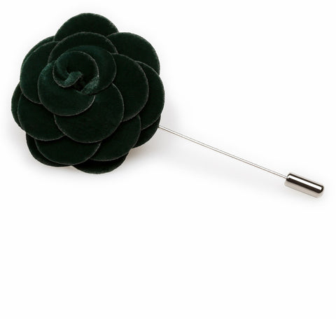 Eva Green Velvet Lapel Flower