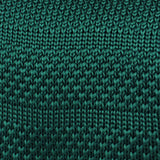 Exeter Green Knitted Tie Fabric