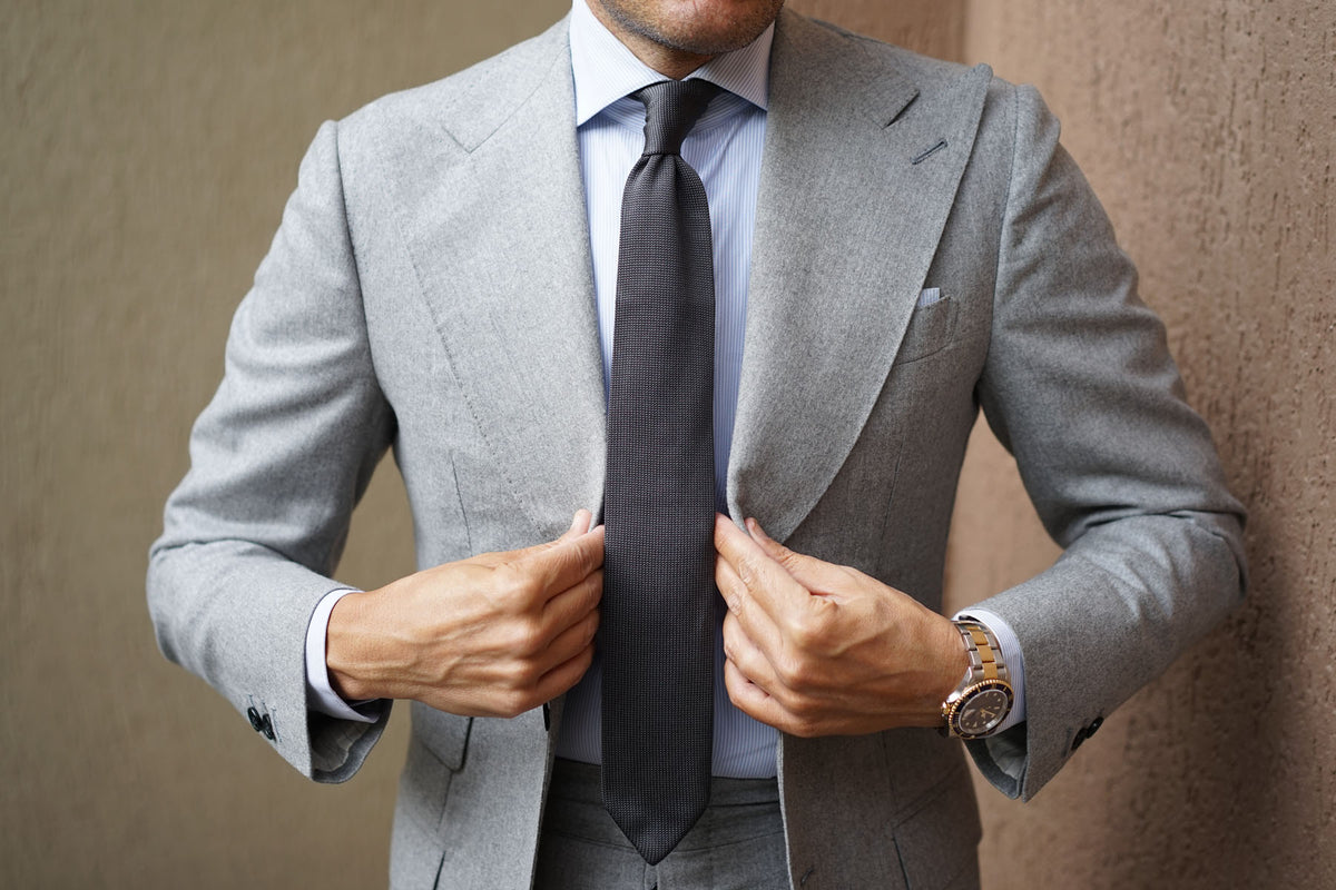Fawkes Grey Knitted Tie