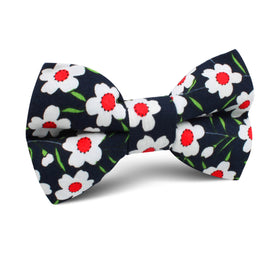 Fijian Midnight Floral Kids Bow Tie
