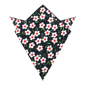 Fijian Midnight Floral Pocket Square