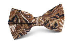 Filicudi Brown Paisley Bow Tie