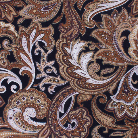 Filicudi Brown Paisley Diamond Bow Tie