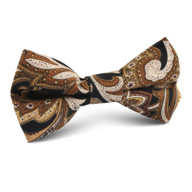 Filicudi Brown Paisley Kids Bow Tie