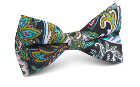 Filicudi Maroon & Green Paisley Bow Tie