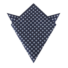 Fiori Blu Floral Pocket Square