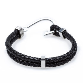 Fish Hook Black Bracelet