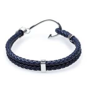 Fish Hook Navy Bracelet