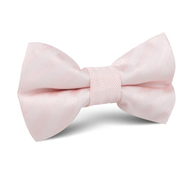 Flamenco Blush Pink Striped Kids Bow Tie