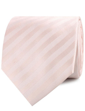 Flamenco Blush Pink Striped Necktie