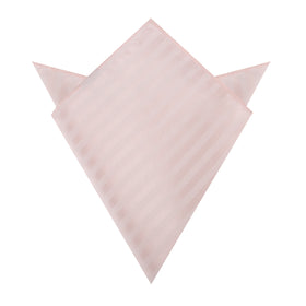 Flamenco Blush Pink Striped Pocket Square