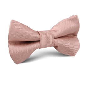 Flamingo Ballet Blush Pink Weave Kids Bow Tie