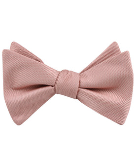 Flamingo Ballet Blush Pink Weave Self Bow Tie