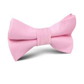 Flamingo Pink Twill Kids Bow Tie