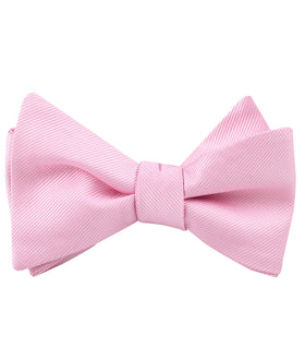 Flamingo Pink Twill Self Bow Tie