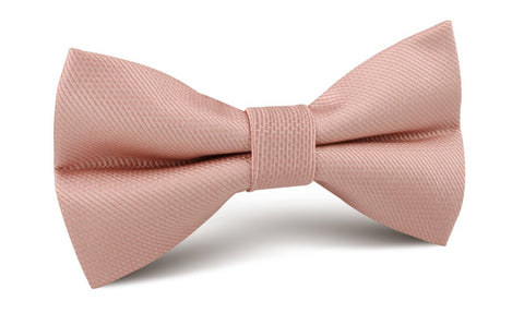 Flamingo Ballet Blush Pink Weave Bow Tie
