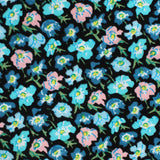 Flax Linum Blue Floral Pocket Square Fabric