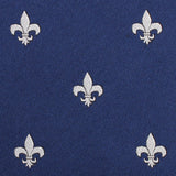 Fleur De Lis Fabric Pocket Square