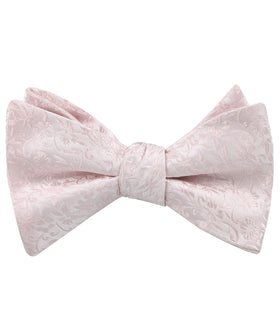 Florence Blush Pink Floral Self Bow Tie