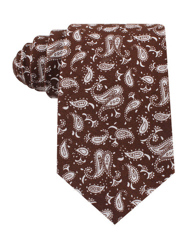 Florence Paisley Brown Tie
