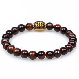 Florida Red Tiger Eye Black Panther Bracelet
