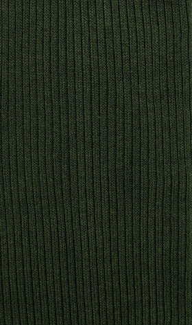 Forest Green Cotton-Blend Socks
