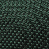 Forest Green Knitted Tie Fabric