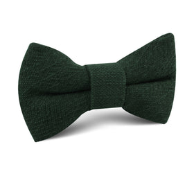 Forest Green Crocodile Linen Kids Bow Tie