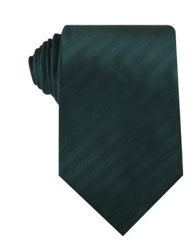 Forest Dark Green Striped Necktie