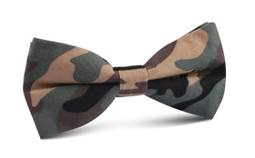 Forest Green Camouflage Bow Tie