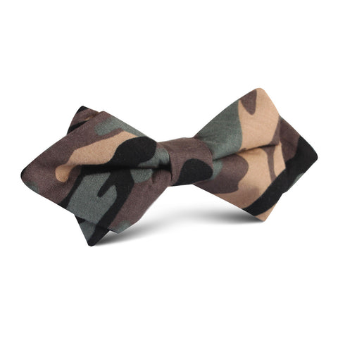 Forest Green Camouflage Diamond Bow Tie