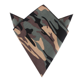 Forest Green Camouflage Pocket Square